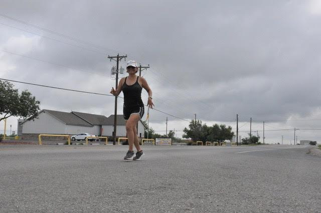 Marie Coleman jogging